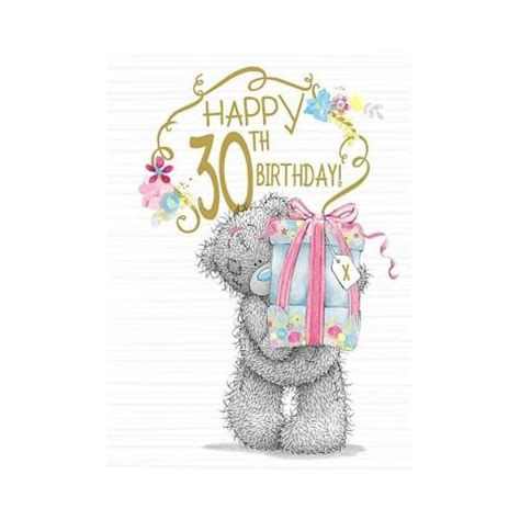 Happy 30th Birthday Images Happy 30th Birthday Me To You Birthday Card A01ss540
