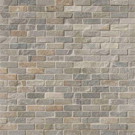 golden white quartzite brick pattern tumbled backsplash tile