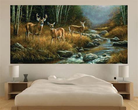whitetail deer indooroutdoor vinyl wall mural wall