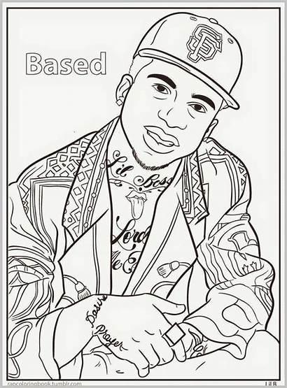Coloring Rap Hop Hip Colorear Dibujos Gangsta