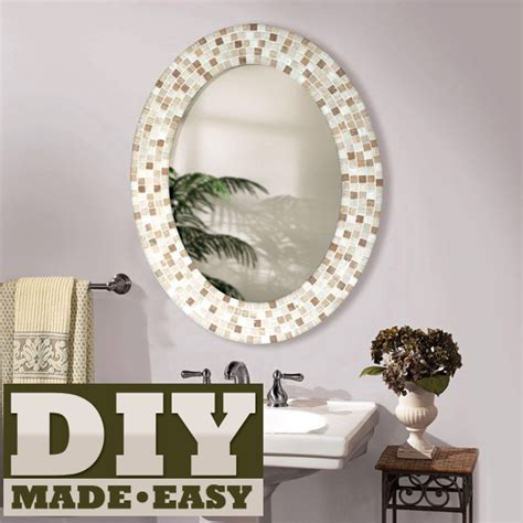 How To Make A Frame For A Bathroom Mirror by Mica Hardware Make A Mosaic Mirror