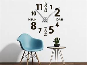 Wandtattoo Weltkarte Uhr : wandtattoo wanduhren bei wandtattoos mit uhrwerk ~ Sanjose-hotels-ca.com Haus und Dekorationen