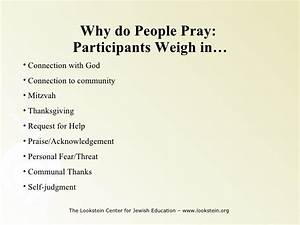 Methods of Teaching Jewish Prayer I