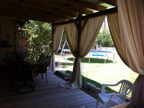 outdoor entertaining diy card table patio curtains
