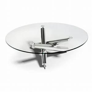 Table Basse En Verre Ronde : table basse ronde en verre design table basse table pliante et table de cuisine ~ Teatrodelosmanantiales.com Idées de Décoration