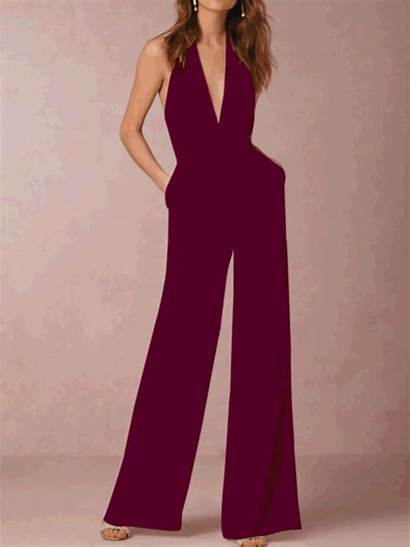 Cotton Halter Casual Sleeveless Blend Lilicloth Jumpsuit