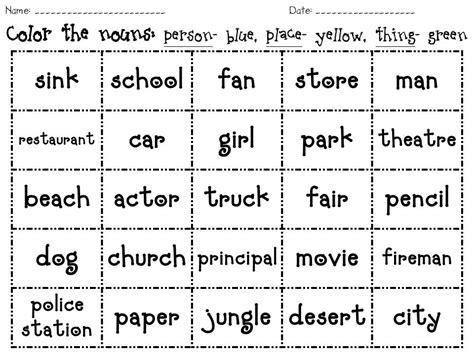 19 Best Images Of Adjective Sort Worksheet Kindergarten  Nouns Verbs Adjectives Worksheets 1st