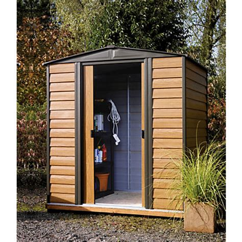 10 X 6 Shed Homebase by Rowlinson Woodvale Metal Shed 6ft X 5ft
