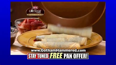 gotham steel hammered collection tv commercial upgrade  cookware  pan featuring