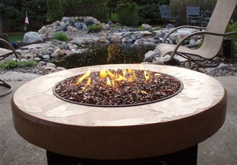 Outdoor Gas Fire Pit Glass  Innovative Outdoor Gas Fire