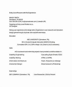 Sample Resume For It Student With No Experience Generic Resume Template 28 Free Word Pdf Documents