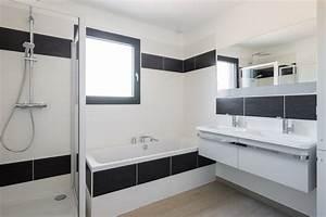 maison ossature bois natigreen contemporain salle de With porte de douche coulissante avec renovation salle de bain la roche sur yon