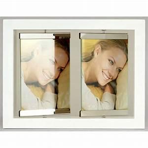 Cadre Blanc Photo : cadre photo laqu blanc argent 10x15 2 vues emd ~ Teatrodelosmanantiales.com Idées de Décoration