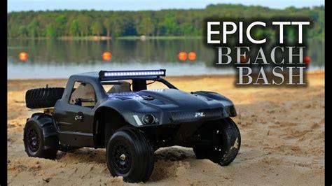 rc trophy truck epic beach bash youtube