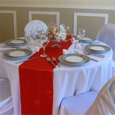 red table runner with 5 led lights sale 10pcs lot 30 275cm multi color satin table runner for hotel table decoration
