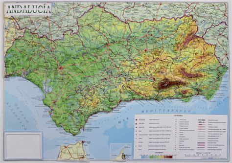 reliefkarte andalusien  landkarte
