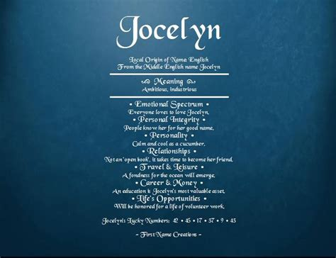 15 best images about Nothing but Jocelyn on Pinterest   Fonts, Baby girl names and Personalized
