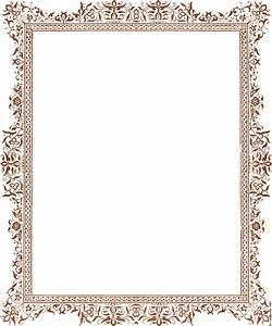 Decorative clip-art Victorian border, antique brown