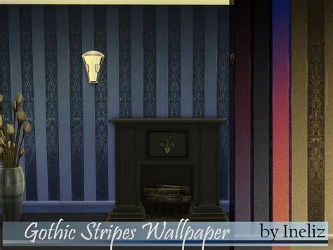 inelizs gothic stripes wallpaper