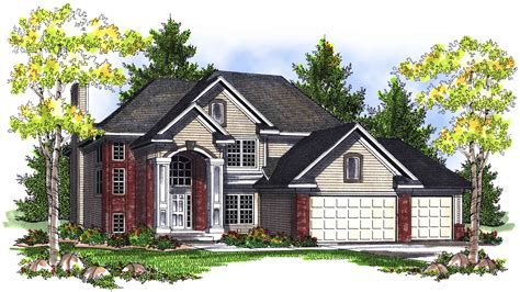 Traditional 2-story Home Plan With Grand Entry