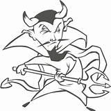 Coloring Colorear Demonios Dibujos Demonio Dibujo Diablos Ausmalbilder Devil Teufel Demon Krampus Desenhos Zum Dreizack Kostenlos Ausmalbild Devils Pintar Spear sketch template