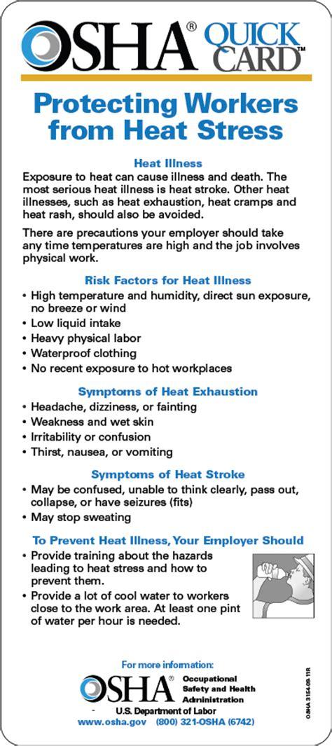 preventing heat stress  work ufcw safety  health