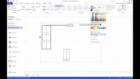 a circuit in visio how to ep 34