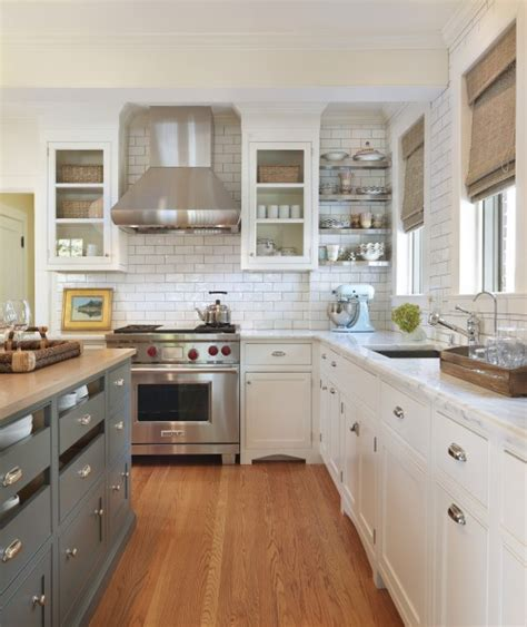 subway tiles backsplash cottage kitchen house beautiful