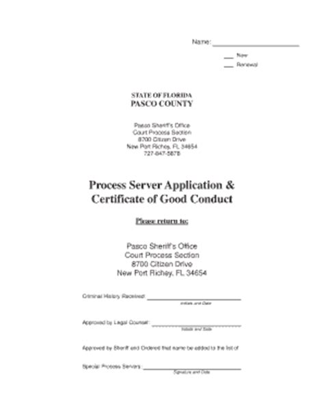 Good Conduct Form by Letter Of Good Conduct Florida Fill Online Printable