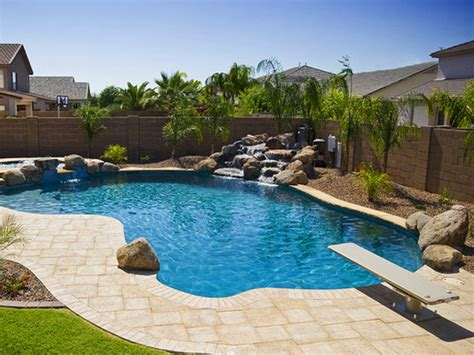 Pool Ideas by Pond Waterfall Design Simple Backyard Pool Landscaping