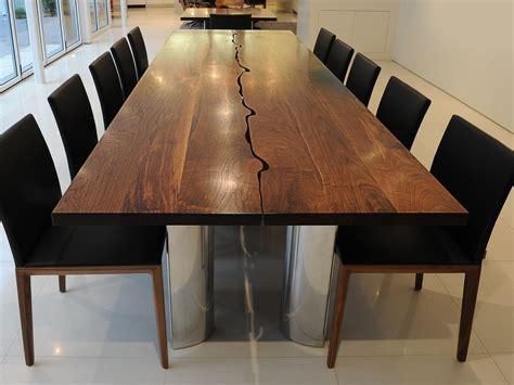 modern dining table  solid walnut  aluminium fine