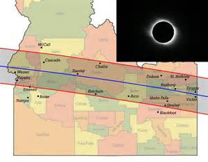 Solar Eclipse 2017 Idaho Map