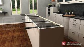 kitchen island with granite countertop kitchen island countertop support bracket protect your granite or