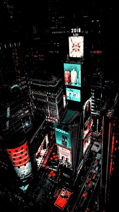times square amoled fon neon wallpaper city wallpaper