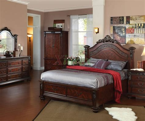 Astonishing Esquire Queen Bedroom Set Merlot By American