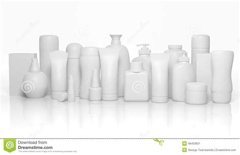 Various 3d Blank Personal Care Products Stock Illustration