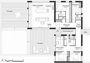 Plan Maison U : plan maison en l avec sous sol ooreka ~ Dallasstarsshop.com Idées de Décoration