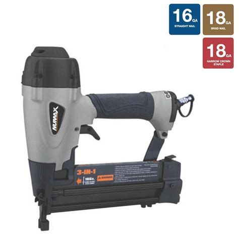 18 Floor Nailer Home Depot by Numax Pneumatic 3 In 1 16 And 18 Brad Nailer