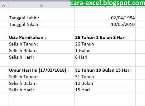 Tips Usia Kandungan 8 Bulan Rumus Hitung Umur Di Excel Tips Excel