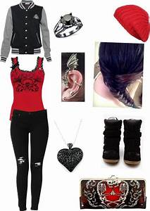U0026quot;Untitled #59u0026quot; by heartbroken-emo liked on Polyvore | fashion | Pinterest | The outfit Rocker ...