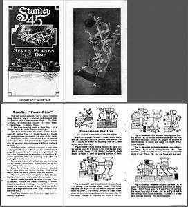 Stanley 45 Plane Manual