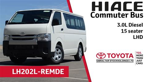 Japan used toyota hiace commuter large van for sale. Toyota Hiace Commuter Bus 3.0L Diesel - 15 seater - LHD ...