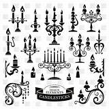 Candle Holder Drawing Getdrawings Vector Candles Clip sketch template