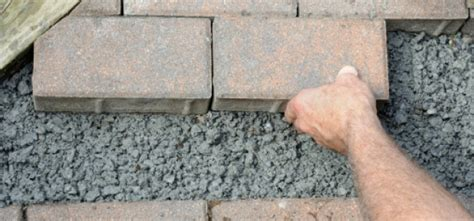 grouting outdoor pavers