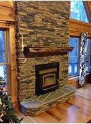 Half Log Gas Fireplace Frame Made From Cedar A Gas Fireplace Natural Gas Fireplace Gas Fireplaces And Thermostats On Pinterest Ridge Gas Logs Steps For Gas Fireplace Installation Cedar Ridge Gas Alfa Img Showing Wall Mount Natural Gas Ventless Fireplace