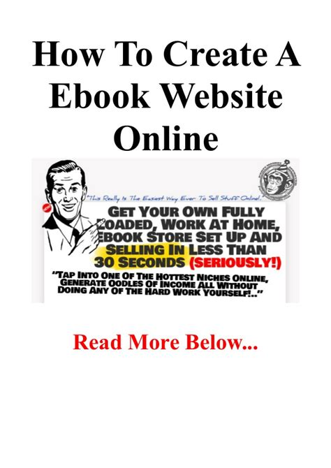 how to create a ebook website online build a ebooks web