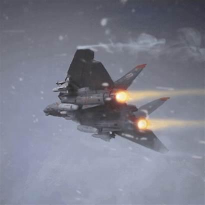 Fighter Airplane Ace Combat Artstation F14 Tomcat
