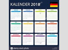 German Calendar for 2018 Scheduler, agenda or diary