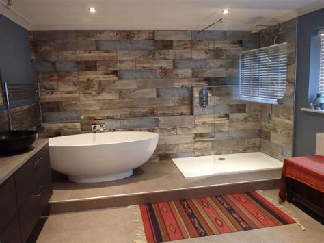wood effect tiles bathroom bathrooms pinterest woods