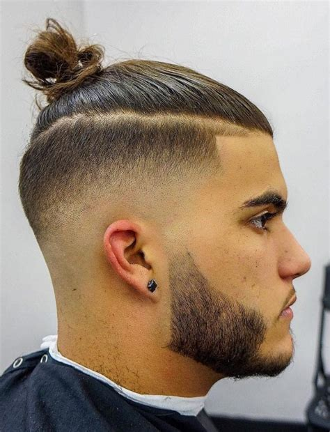 top knot hairstyle visual guide  men